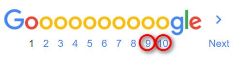 Google SERPs low ranking